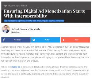 Monetizing Digital Ads